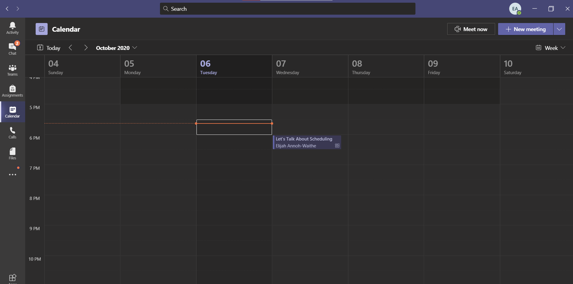 An image showing how to schedule meetings