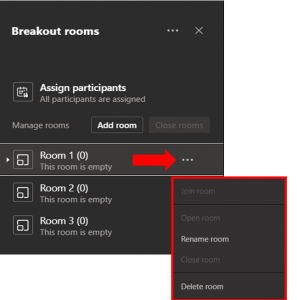 how to view room settings in breakout rooms